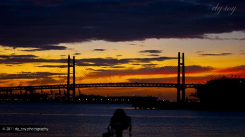 横浜の朝陽
