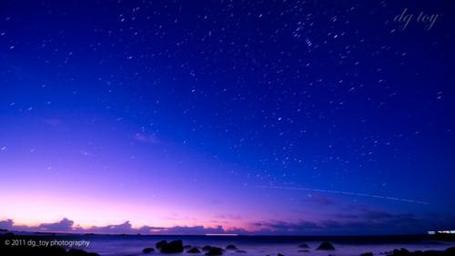 房総半島の星空とISS
