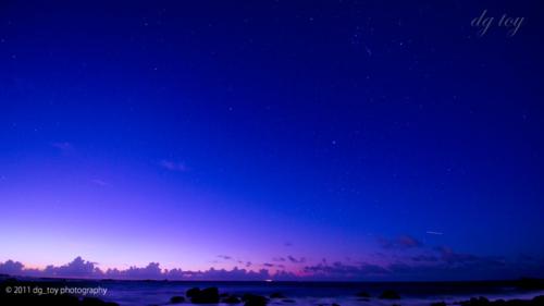 房総半島の星空と薄明