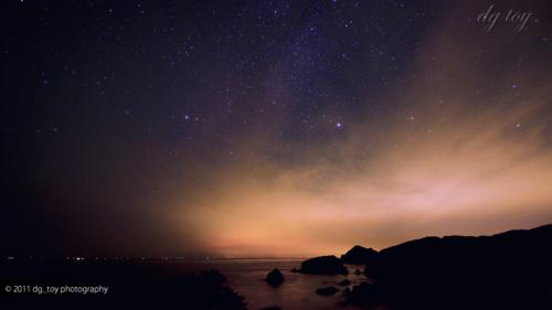 伊豆の海と天の川