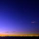 薄明前 東京湾の星空