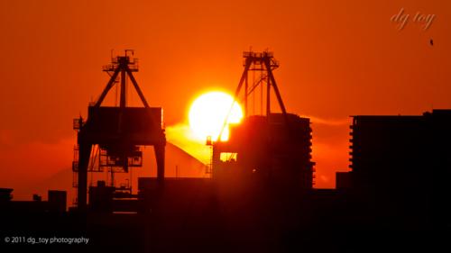 東京湾岸の日没