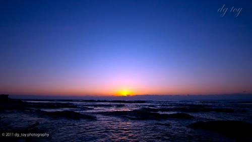 房総半島で日の出待ち