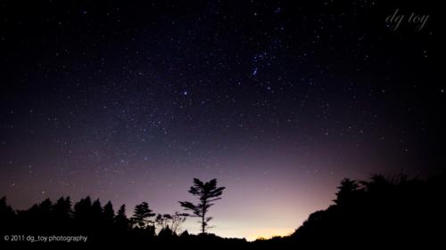 南天の星空