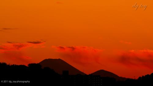 多摩川からの富士