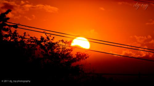 陽が落ちて…