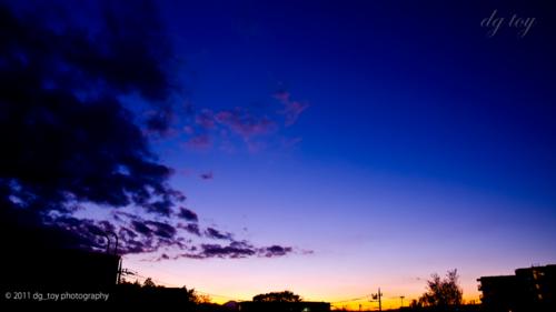 夕刻空の移り変わり