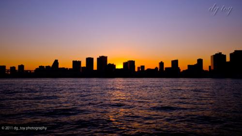 東京港の夕空