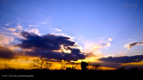 茨城の夕焼け