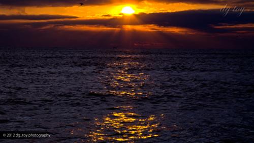 御宿の朝陽