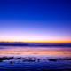 砂浜の朝焼け映り色