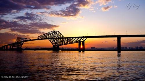 東京ゲートブリッジと落暉