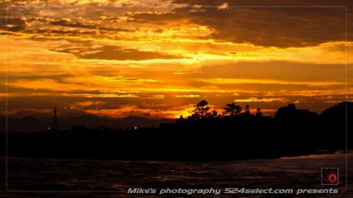 多摩川の夕景