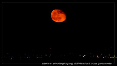月の出の撮影