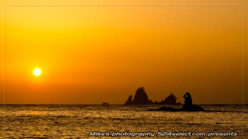 西伊豆の夕陽[大田子海岸]