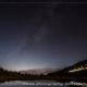 北天の星空と月夜