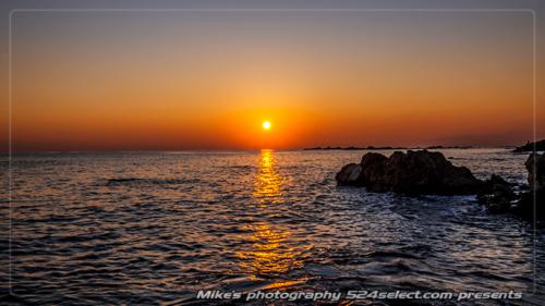 葉山の夕日