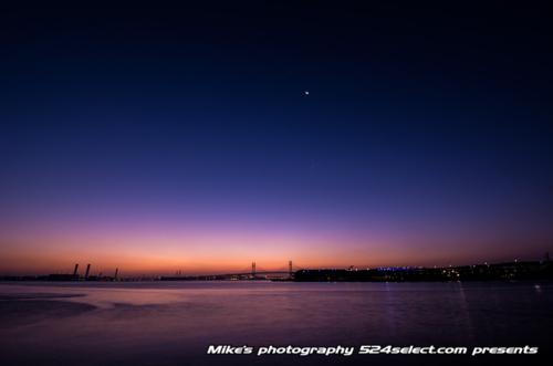 夜明け前の横浜