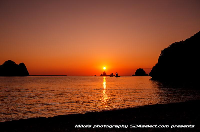 西伊豆大田子海岸の夕日〜伊豆最大の夕焼けスポットで撮る風景!秋の大田子海岸夕日ベストの日の風景