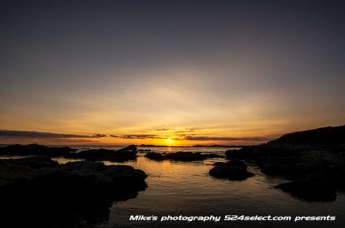 城ヶ島で見る夕日