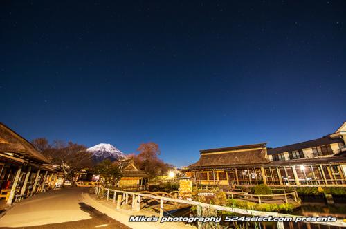 富士山と星空[忍野八海編]