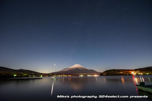 富士山と星空[山中湖 湖畔編]-Mt.Fuji Japan