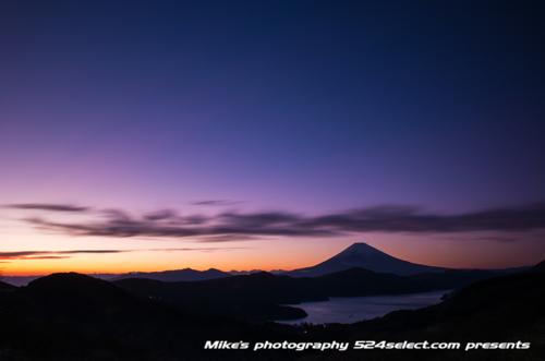 箱根の夕焼け富士