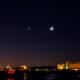 葛西臨海公園の夜空-Tokyo Japan Moon at Kasai Seaside Park