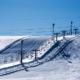 雪景色-シュプール