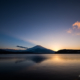 夕暮れ時の山中湖[Sunset by the Yamanaka lakeside Landscape Japan]