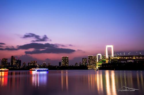 夕暮れのお台場海浜公園[Twilight Tokyobay Japanese Landscape]