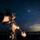 春の夜 星空の撮影で…あいあい岬