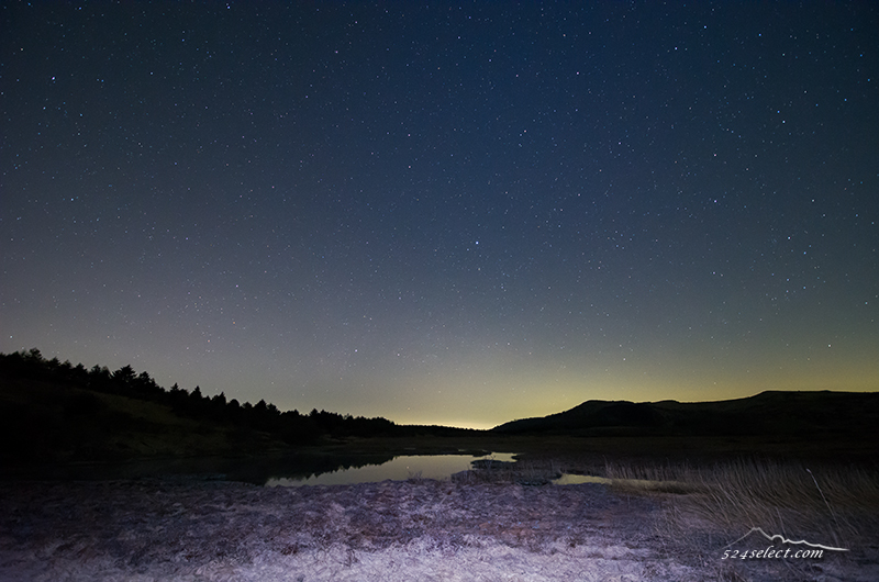 星空の八島ヶ原湿原〜ハート形の湿原で夜の風景を撮影する!星空観測地霧ヶ峰の撮影スポット