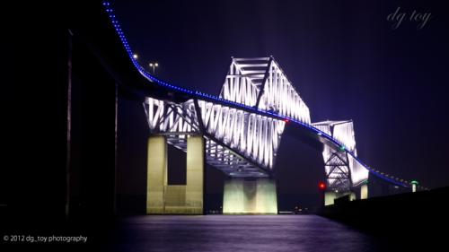 東京ゲートブリッジライトアップ ブルーバージョン