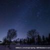 氷上と雪原の星空